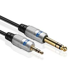 TNP Premium 6.35mm 1/4 to 3.5mm 1/8 Cable Adapter  - Male to