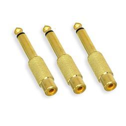 DCFun 6.35mm 1/4 inch Male Mono Plug to RCA Female Audio 1/4