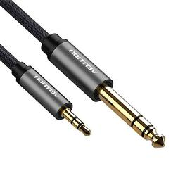 "Vention 3.5mm 1/8"" Male to 6.35mm 1/4"" Male TRS Stereo Audio"
