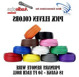 11 Rolls Audiopipe 50' Feet 18 Gauge AWG Primary Remote Wire