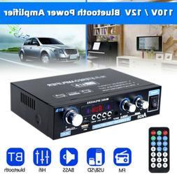 110V 12V 600W Bluetooth Power Amplifier Home Stereo 2CH AMP