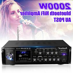 110V 2000W 2CH bluetooth Home Stereo Amplifier Powered Equal
