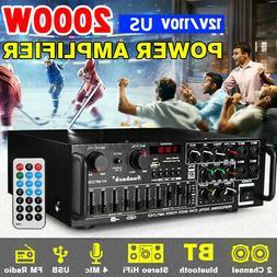 110V 2000W 326BT bluetooth Power Amplifier Home Stereo 2Ch A