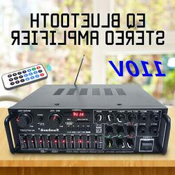 110V 800W 2Ch Bluetooth Home Stereo Amplifier Powered Equali