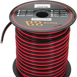 GS Power 12 Ga Gauge 100 Feet CCA Copper Clad Aluminum Red/B