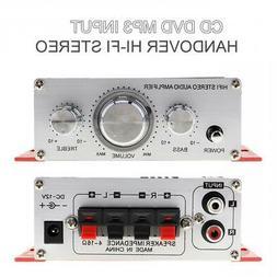 12V Audio Stereo Power Amplifier 2-Channel Remote Bass Trebl