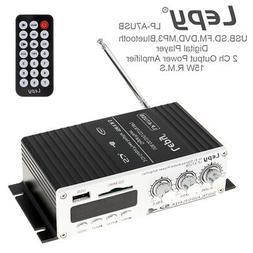 12V HIFI Audio Stereo Bluetooth FM Amplifier Car Home USB SD