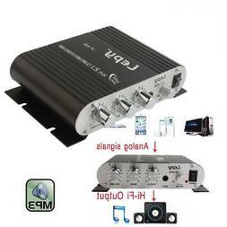 12V Mini Hi-Fi Stereo Amplifier Bass 2.1CH Car Home Booster