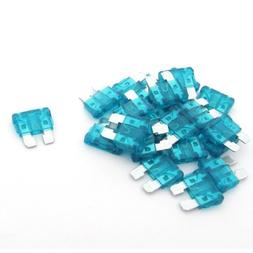 uxcell 22 Pcs 15A Blade Fuses Blue for Vehicle Car Stereo