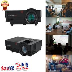 1920*1080P HD HDMI Stereo Home Theater Projector 1800LM Scre