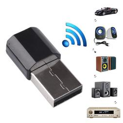 1PC Home Car USB Wireless Bluetooth 3.5mm AUX Audio Stereo R