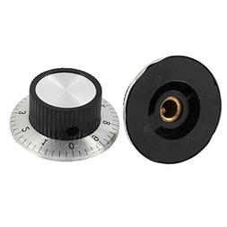 2 Pcs 24mm Top Potentiometer Control Volume Digital Knob Cap