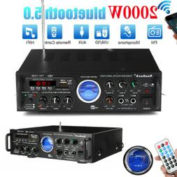 2 Channel 2000Watt Bluetooth 4.0 Stereo Home Hi-Fi Power Amp