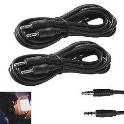 2 Pack 6Ft Aux Cable Cord 3.5mm Auxiliary Car Audio Headphon