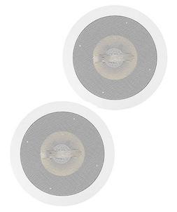 2 Way In Wall/Ceiling Speakers Pair 200 Watt Stereo Audio Ho