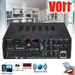 800W 110V 2CH bluetooth Stereo Amplifier Powered Equalizer E