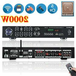 2000W 110V 5Ch bluetooth Home Stereo Power Amplifier Audio A