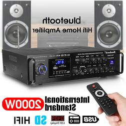 2000W 2 Channel bluetooth Home Power Theater Amplifier Stere