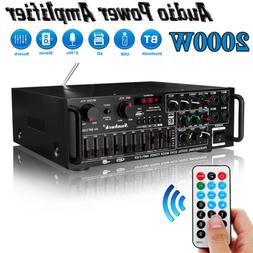 2000W 2Channel EQ Bluetooth Home Stereo