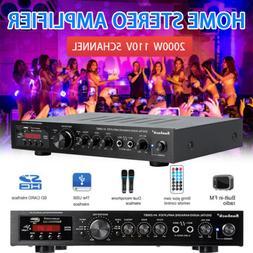 2000W 5CH Bluetooth Home Car Amplifier HIFI Audio Stereo Pow