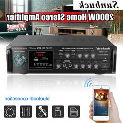 2000W Home bluetooth Amplifier HIFI Audio Stereo 2 Channel F