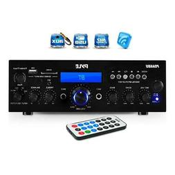 Pyle 200W Bluetooth LCD Home Stereo Amplifier Receiver with