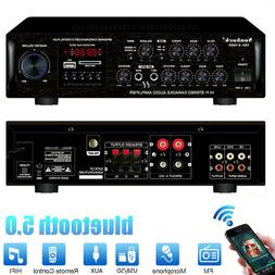 2500W bluetooth 5 Channel Power Amplifier Home Stereo AMP FM