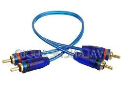 1' Car or Home Stereo RCA Interconnect Audio Amp Cables 2 Ch