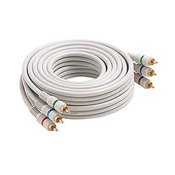75 FT 3 RCA Component Cable Python 3 Male Each End Ivory Gol