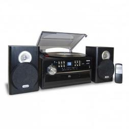 Jensen 3-Speed Stereo Turntable with CD System  Cassette and