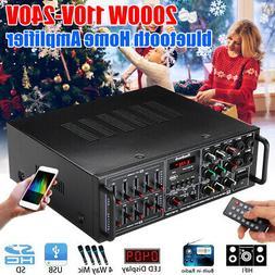 Sunbuck 325BT 2000W bluetooth Power Amplifier 2Ch AMP EQ Hom