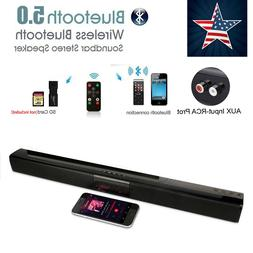 32W Bluetooth 5.0 Sound Bar Stereo Speaker TV Home Theater w