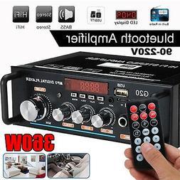 360W 110V/12V Home Car Power Amplifier BT HIFI 2 Channel Aud
