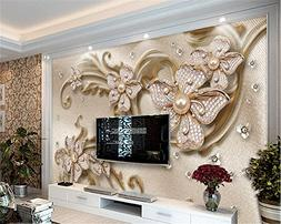 LHDLily 3D Wallpaper Mural Fresco Sticker Custom Wallpaper L