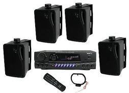 "4) Pyle PLMR24B 3.5"" 200W Box Speakers + PT260A Home Digital"