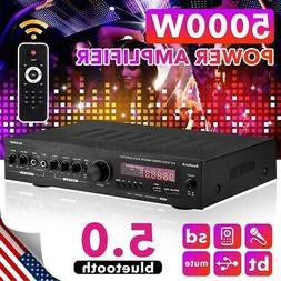 5000W Car Home Power Amplifier bluetooth 5.0  AUX Stereo Aud