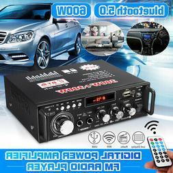 600 Watts HIFI Audio Stereo bluetooth FM 2-Channel LCD Ampli