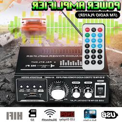 360W 110V/12V HIFI Audio Stereo bluetooth FM 2CH AMP Car Hom