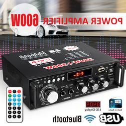 MECO 600W 110V HIFI Audio Stereo bluetooth FM 2CH AMP Car Ho