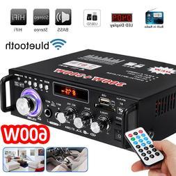 600W 2CH bluetooth Car Digital Amplifier HIFI Stereo Audio U