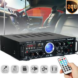 800W 110V 2 Channels Power Amplifier Equalizer Bluetooth Hom