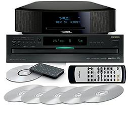 Bose Wave Music System IV with Onkyo DX-C390 6 Disc CD Chang