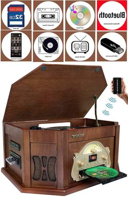 Boytone - Bluetooth Stereo Audio System - Mahogany