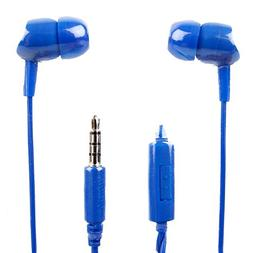 DURAGADGET Premium Quality in-Ear Earphones in Blue with Mic