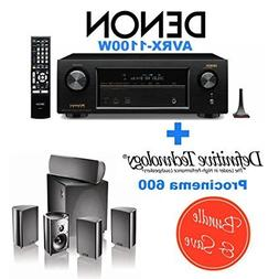 Denon AVR-X1100W 7.2 Channel Full 4K Ultra HD A/V Receiver w