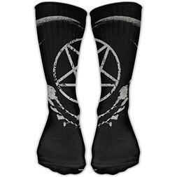 Gothic Occult Satan Penta Symbol Skull Personalized Socks Sp