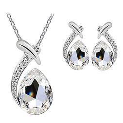 Hemlock Lady Earrings, Women Crystal Pendant Necklaces Jewel
