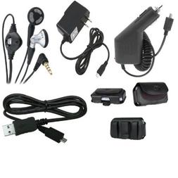 Issmor - 5in1 Car Auto+Home Wall Charger+Leather Case+USB Ca