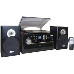 Jensen Home Shelf Stereo Record Player System With Speakers