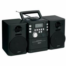 Jensen Stereo Boombox CD Player FM Cassette AUX Bass Boost D